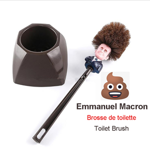 Image 1 - Emmanuel Macron Brosse WC Brosse de toilette France President Trump Toilet Brush Funny