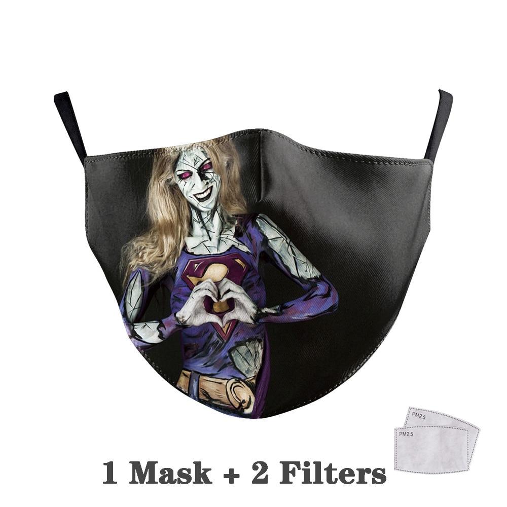 Washable Big Mouth Skull Face Masks 39