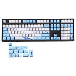 Накладки на клавиатуру с китовым колпачком, красящие подставки, PBT, 122 клавиш, OEM, профильные колпачки для переключателей Cherry MX, TKL87/96/108, колпач...