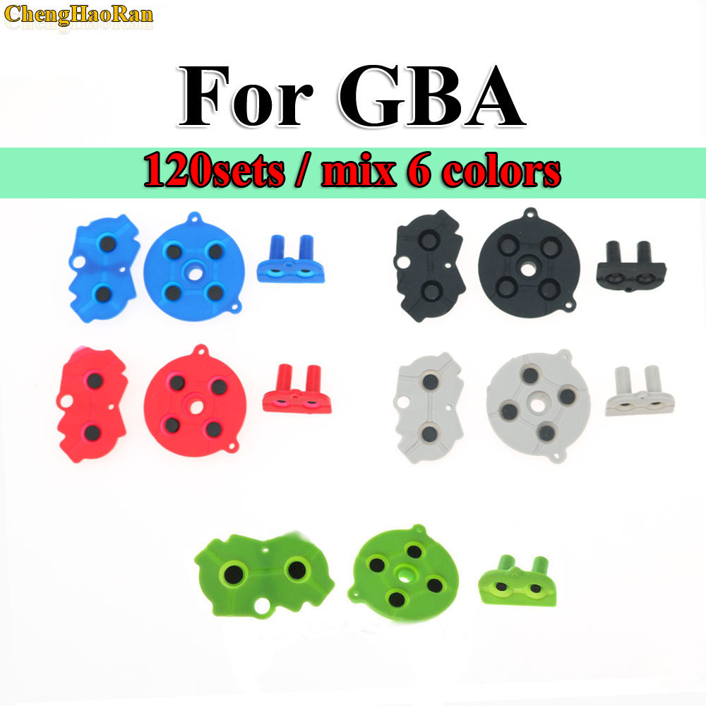 120sets Blue Red Green For Game Boy GBA Advance Button Silicone Rubber Pad Conductive Contacts AB Select Start D pad-in Replacement Parts & Accessories from Consumer Electronics