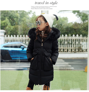 Image 4 - 2019 New Fashion Children Winter Jacket Girl Winter Coat Kids Warm Thick Fur Collar Hooded long down Coats For Teenage 4Y 14Y