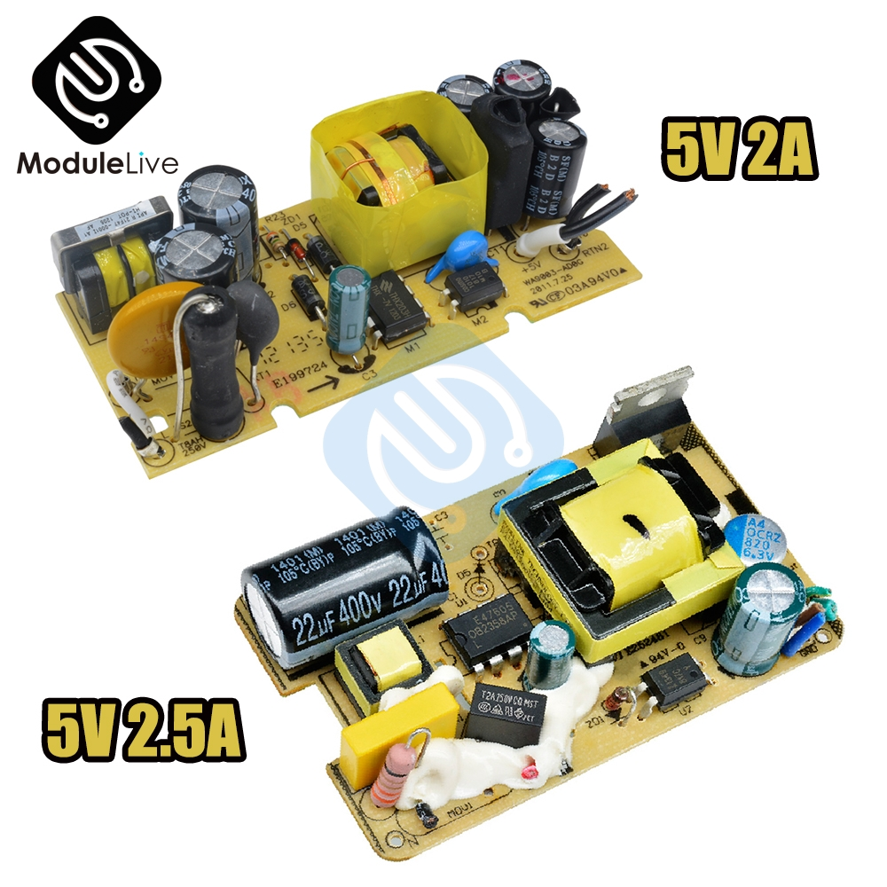 5V 2.5A  AC-DC 5V 2A 2000mA Switch Switching Power Supply Module For Replace Repair LED Power Supply Board 100V-240V to 5V 2A