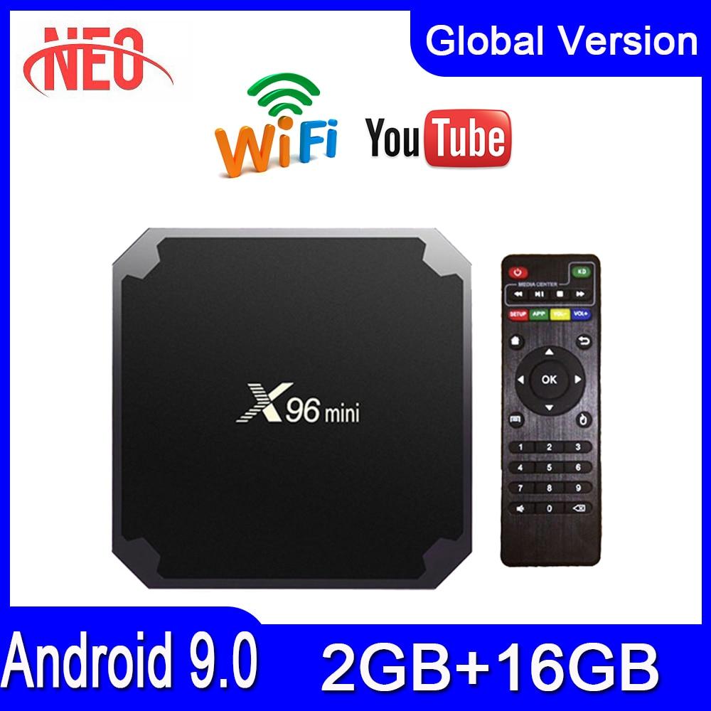 Лучшая ТВ-приставка android x96 mini iptv box Amlogic S905W 2 Гб 16 Гб x96mini smart ip tv android 9,0 Европейская ТВ-приставка