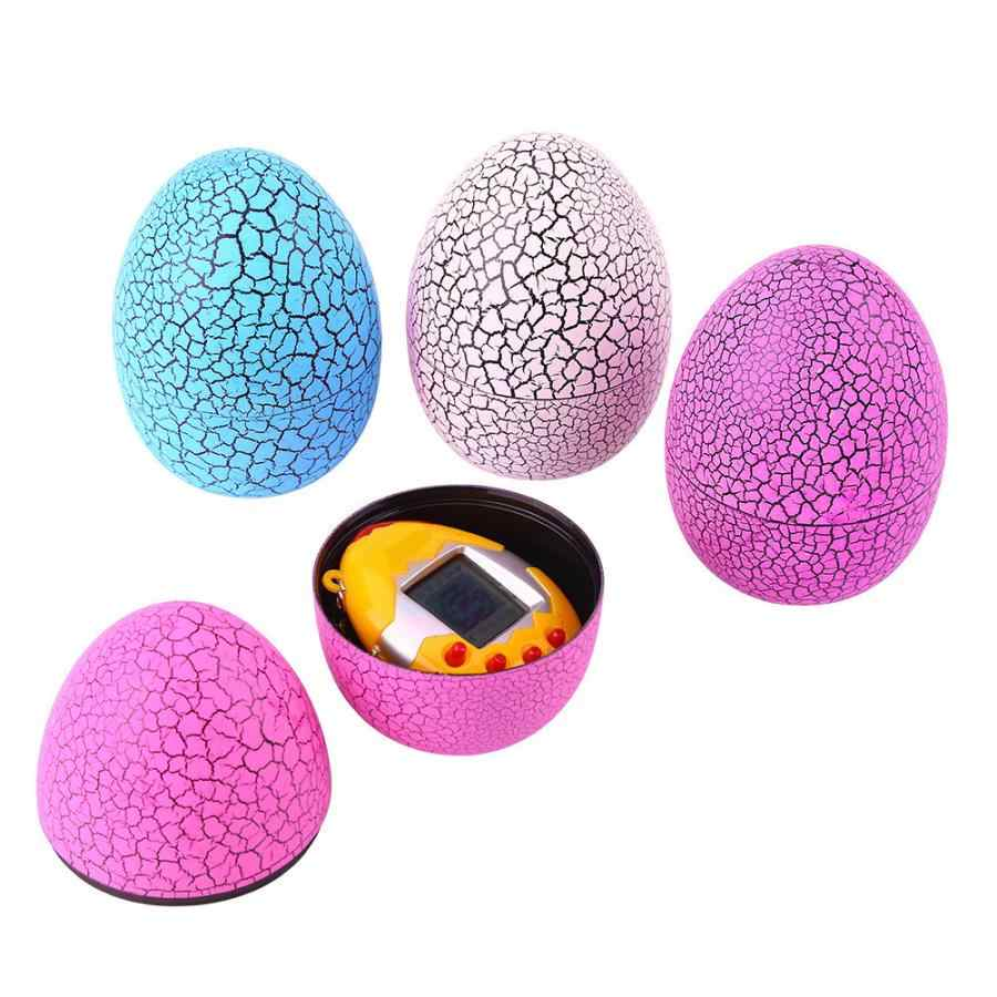 תינוק אלקטרוני חיות מחמד וירטואליות סדק קליפת ביצה אלקטרוני חיות מחמד כף יד משחק Tamagochi דינוזאור ביצת אינטראקטיבי וירטואלי צעצוע