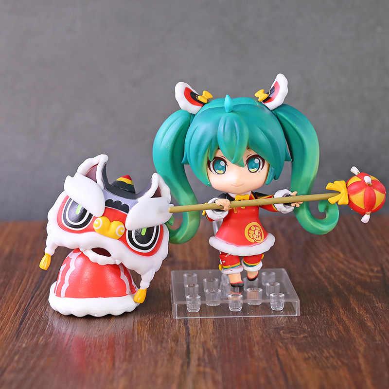 Q Model 654 Cute PVC Action Figure Toy Gift Anime Hatsune Miku Lion Dance Ver