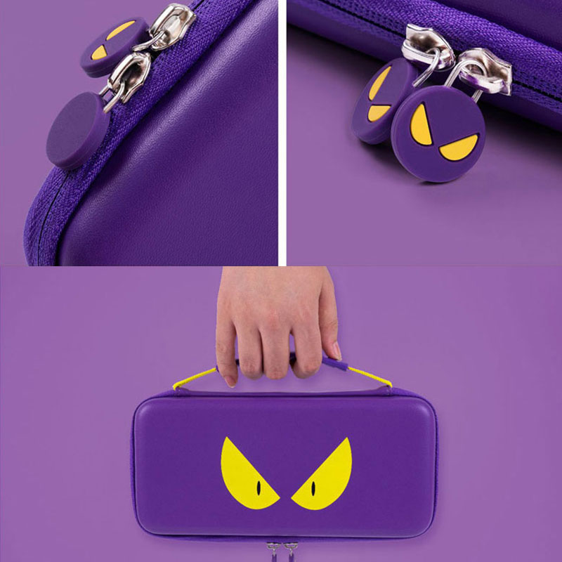 lowest price Nintend Switch Storage Bag Purple Devil Travel Case NS Hard Shell Cover Waterproof Box For Nintendo Switch Lite Game Accessories