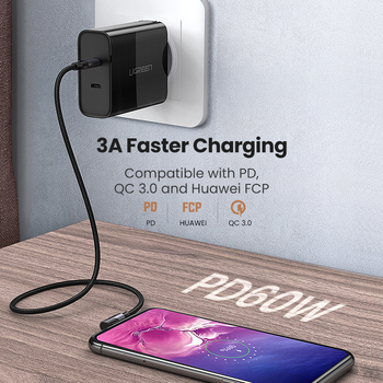 UGREEN USB Type C to USB C Cable PD 60W Fast Quick Charger 4.0 USB-C Cable Accessories Electronics