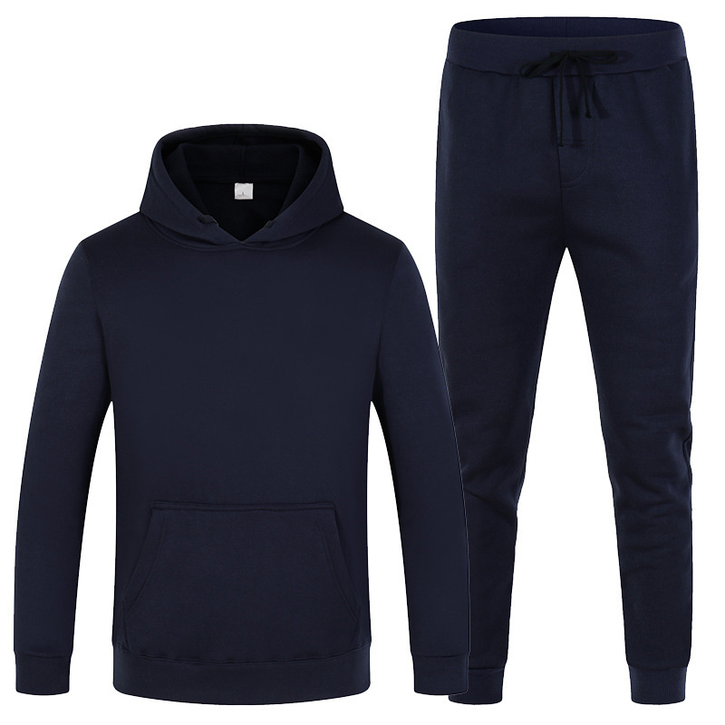 New Brand Clothing Wholesale Men's And Women's Pullover Sweater Sweater Cotton Men's Sportswear Hoodie Two Pieces + Pants Solid