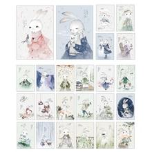 4packs/lot Kawaii Rabbit Postcard/Greeting Card/Birthday Letter Envelope Gift Card Message Card Free Shipping