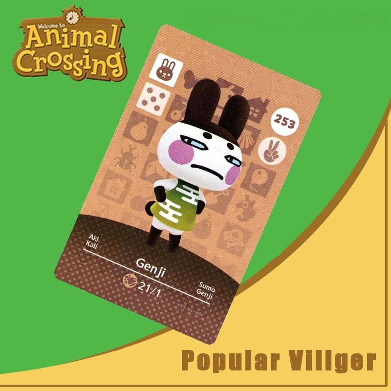 253 Animal Crossing Amiibo Card Genji Amiibo Card Animal Crossing Series 3 Genji Nfc Card Work For Ns Games Dropshipping