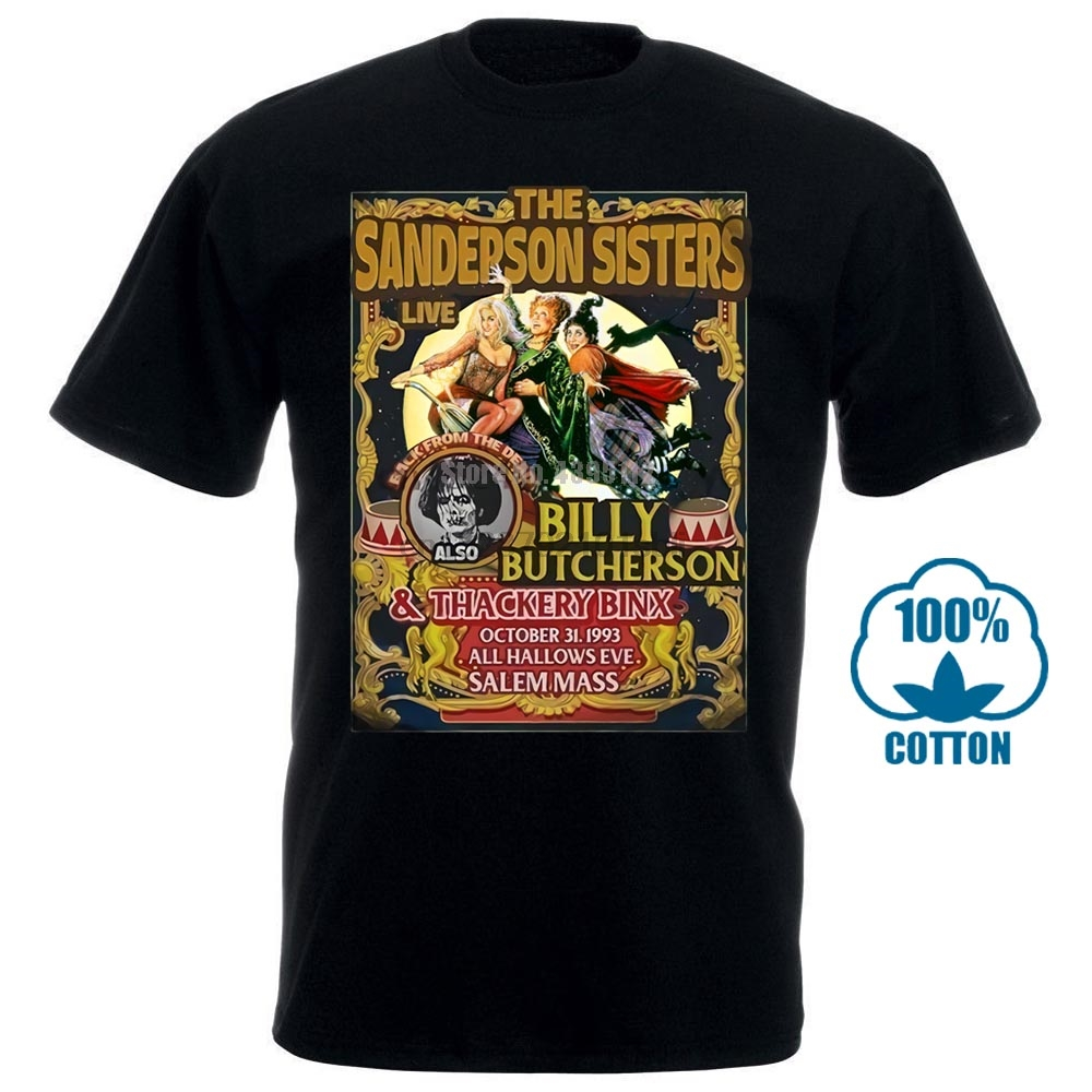 Hocus Pocus In A World Full Of Basic Witches Be A Sanderson Halloween Tee Shirt