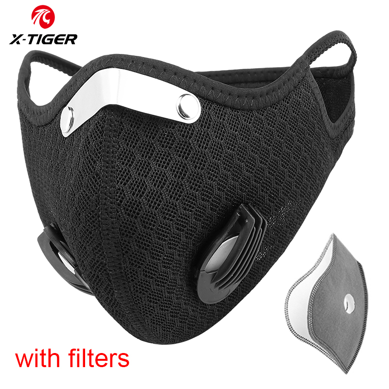 X-TIGER KN95 Cycling Face Mask Antiviral Protection Mask Breathable Cycling Mask Anti-Pollution With Activated Carbon Filters
