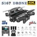 S167 Pro GPS RC Drone 4K HD kamera ile 5G WIFI FPV Drone yönlü nokta uçan jest fotoğraf fırçasız katlanabilir Quadcopter Mini Dron