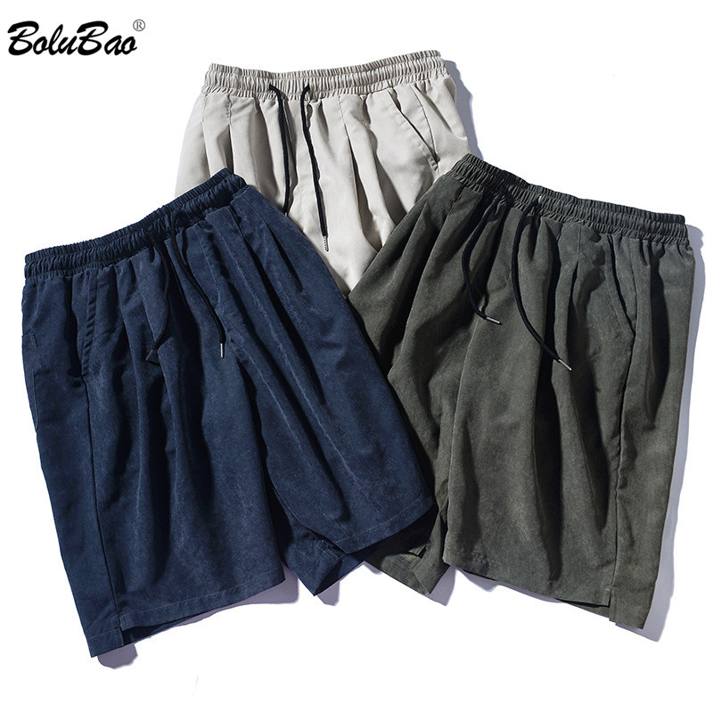 BOLUBAO Men Harajuku Style Shorts Casual Brand Summer Men's Solid Color Straight Short Comfortable Loose Beach Shorts Male