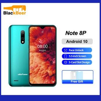 Ulefone Note 8P 5.5 Inch Mobile Phone Android 10 Quad Core Smartphone 2GB RAM 16GB ROM 4G Celular Cellphone 2700mAh Face Unlock