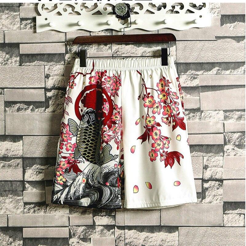 Ukiyo-e Japanese Style Harajuku Dry Fit Short Pants Men Women Crane Print Shorts Casual Plus Size Summer Streetwear HOT Sale