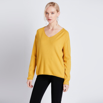 Spring autumn v-neck oversize loose thin sweater women knit top casual pullovers Long Sleeve big size female Cashmere sweater new arrival casual spring autumn loose sweater pullovers women long sleeve patchwork knit top female o neck geometric sweater