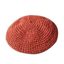 Lady spring Winter Berets Hat Painter style hat Women straw Vintage Solid Color Caps Female Bonnet Warm Walking Cap