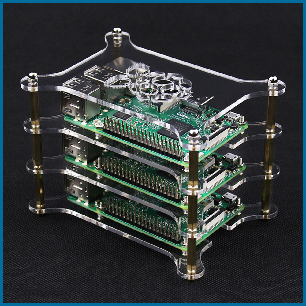 S ROBOT Raspberry Pi 4 Model B Acrylic Case Clear Transparent Shell For Raspberry Pi 3B/3B Plus Case RPI138