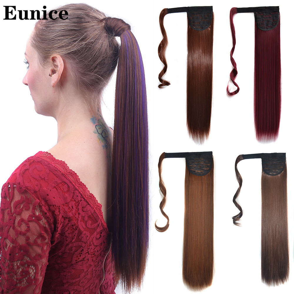Длинные прямые заколки для волос хвост накладные волосы конский хвост шпильки для волос синтетические волосы конский хвост наращивание во...
