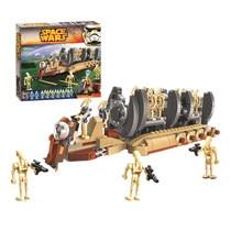 Nova série star wars batalha droid tropa transportadora blocos de construção tijolos modelo compatível com moc-41037 diy brinquedos presentes