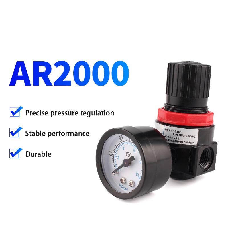 ZKCM AR2000 PC 4 6 8 10 12 regulador de presión de aire en miniatura válvula reductora con manómetro para compresor