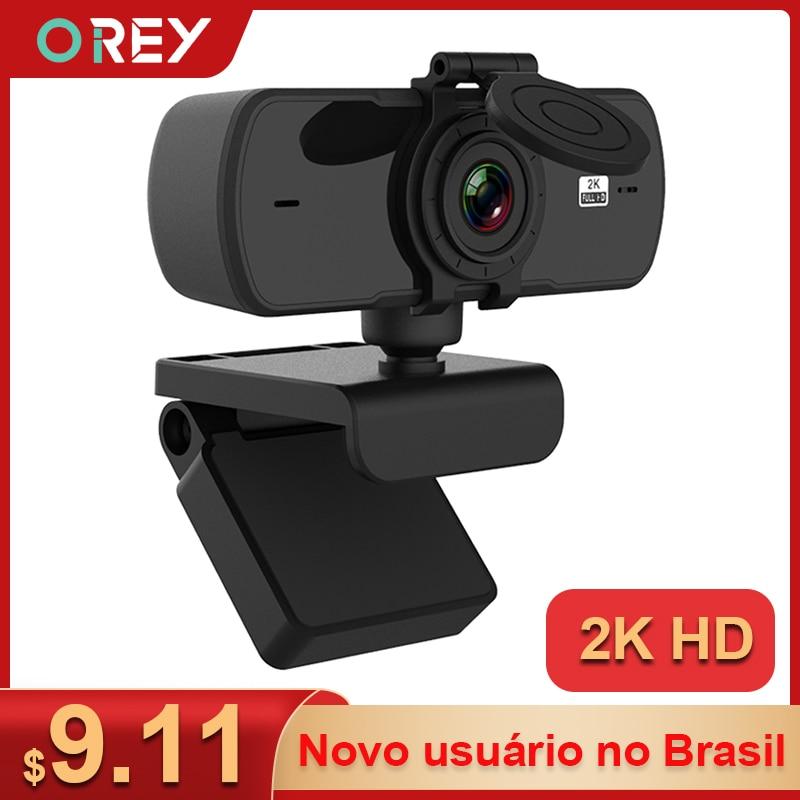 Веб-камера 2K Full HD 1080P веб-Камера автофокуса С микрофоном USB веб-камера для компьютера Mac ноутбука, настольного компьютера YouTube веб-Камера веб к...