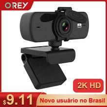 Webcam 2k completo hd 1080p câmera web autofoco com microfone usb webcam para computador pc mac computador portátil desktop youtube webcamera