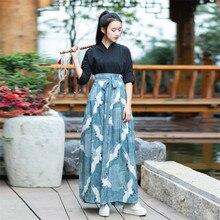 Robe kimono style japonais haori pour femme, costume de samouraï, yukata de danse, tenue de fête vintage, avec imprimé grues, pour cosplay