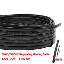 Melhor venda 220v 230v 240v sem necessidade de controlador à prova d' água cabo de aquecimento autoregulante, sistema contra congelamento de tubos,