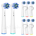8 Pcs Toothbrush Heads for Oral B Toothbrush - 4 Pcs Toothbrush Head Covers for OralB Cross Sensitive Precision Toothbrush Heads