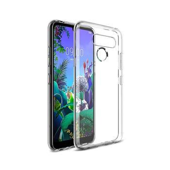 Funda de gel TPU carcasa protectora silicona para movil LG Q60 Transparente