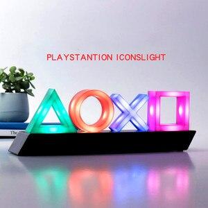 Неоновый светильник, игра, голосовое управление, значок, светильник, атмосферная акриловая панель, декоративная лампа, диммируемая, для бар...