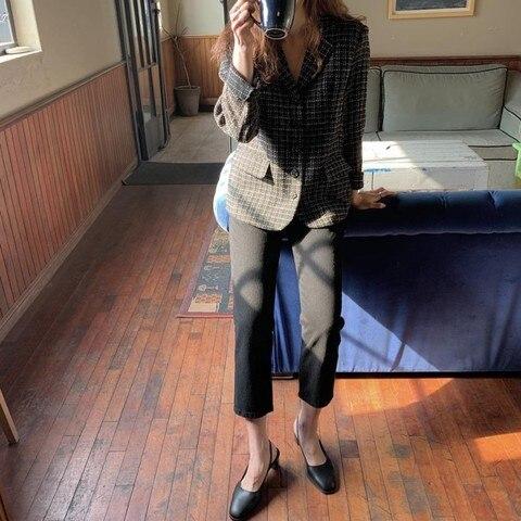 European Style Autumn Winter short Tweed Jacket Coat Women 2019 Elegant Slim Long Sleeve Female Runway Woolen Jacket Islamabad
