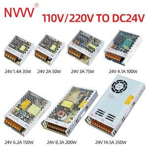 Image 4 - NVVV تحويل التيار الكهربائي 35 واط 50 واط 75 واط 100 واط 150 واط 350 واط LRS سلسلة رقيقة جدا LED سائق التيار المتناوب 110 فولت 220 فولت إلى 12 فولت 24 فولت تيار مستمر امدادات الطاقة