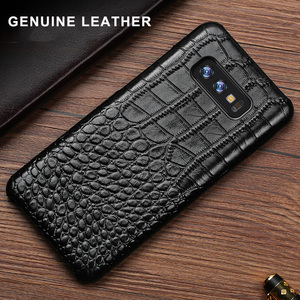 Image 2 - Crocodile Genuine leather Case For Samsung Galaxy A3 A5 A6 A7 A8 A9 A6S A8S A9S Plus Star Pro 2017 2018 Phone Back Cover