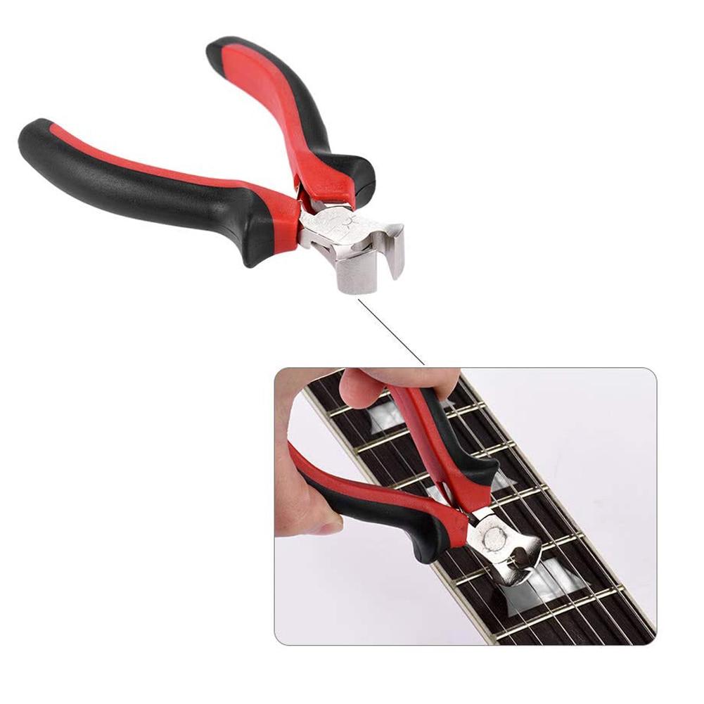 Guitar Bass Cutting Tool Pliers Fret Puller Fret String Cutter Luthier Scissors Steel Comfortable Plastic Grips for Guitar Bass