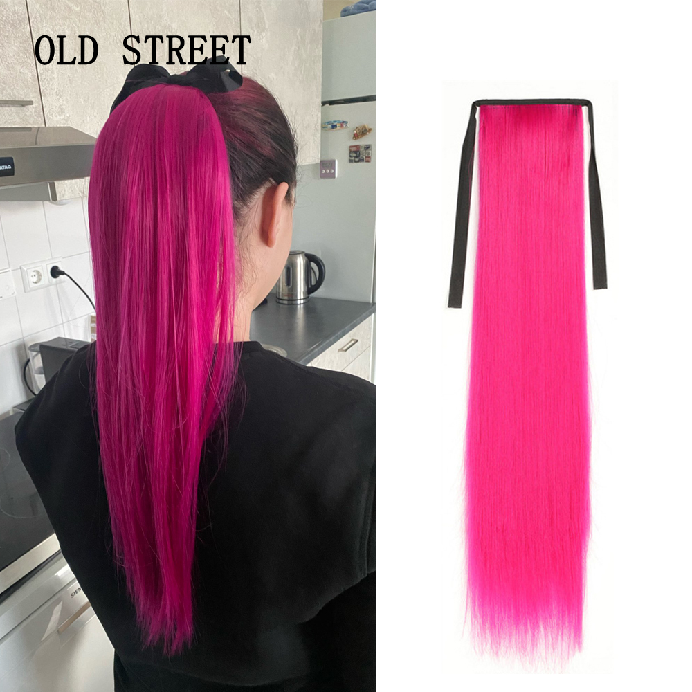Long Silky Straight Ponytails Synthetic Ponytail Heat Resistance Hair Extension for Woman Clip in Hair Extensions Pony Tail