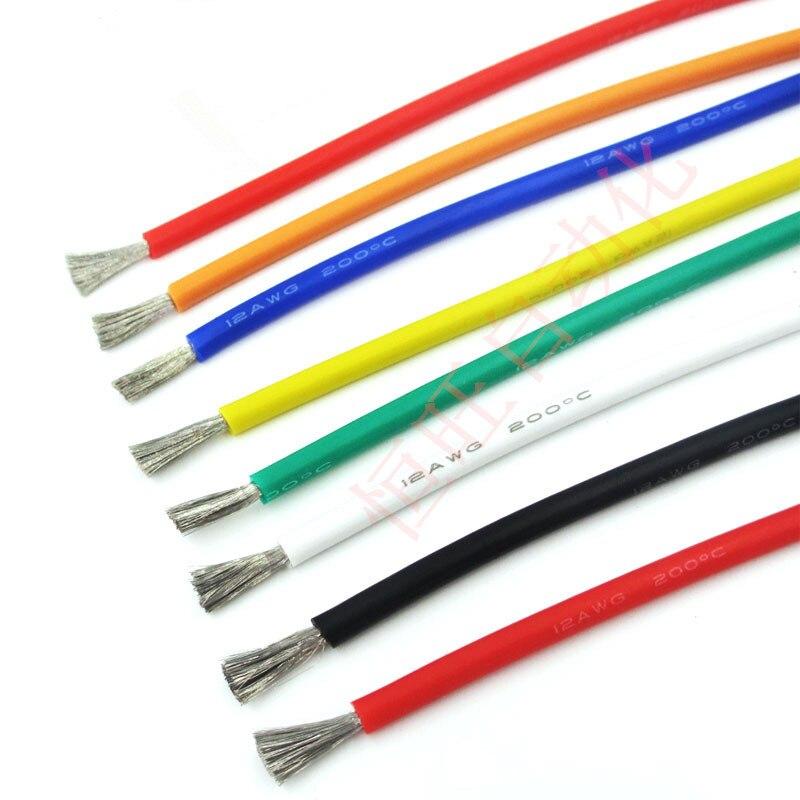 1 метр Силиконовый Электронный провод 12AWG 14AWG 16AWG 18AWG 22AWG 24AWG 26AWG 28AWG 30AWG мягкий силиконовый кабель тестовая линия для DIY