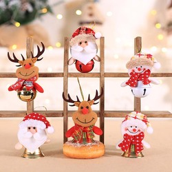 Christmas Toy Dolls Christmas Tree Ornaments Santa Claus Hang Pendant Christmas Decorations for Home Kids Xmas Gift Navidad 2020