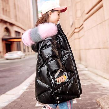 Baby girl clothes children Glossy Down jackets oversize thicker warm park Girls Kids Winter down jackets for girl Y2525