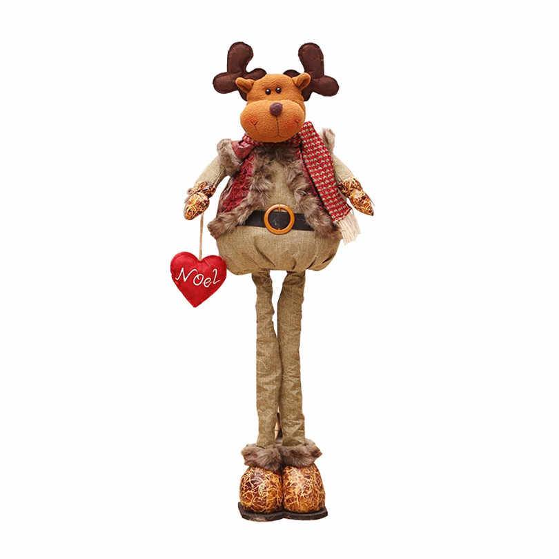 Natal Ditarik Berdiri 43-76 Cm Boneka Natal Dekorasi Natal Besar Santa Claus Snowman Rusa Boneka Anak-anak Tahun Baru hadiah Mainan
