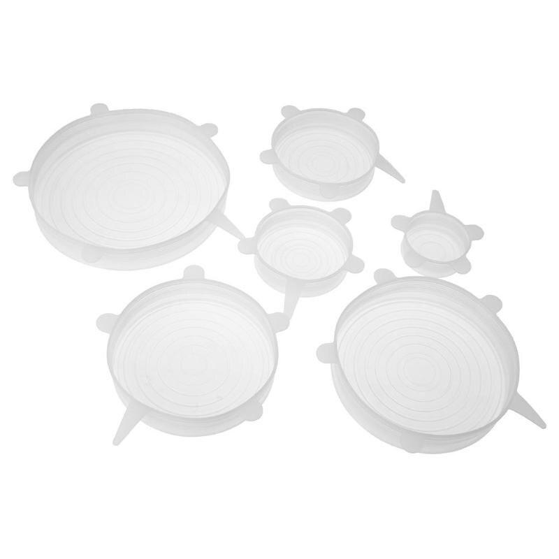 Термостойкие многоразовые эластичные силиконовые крышки для пищевых продуктов Другие части для посуды    АлиЭкспресс