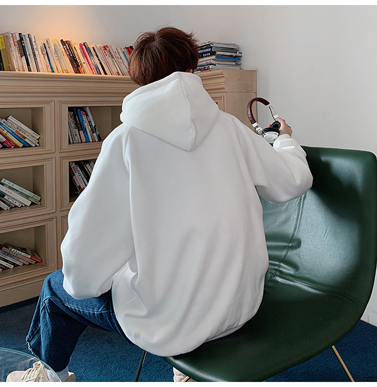 Thicken Fleece Solid Color Loose Sweatshirts