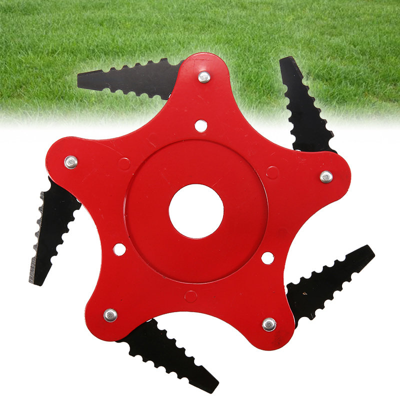 Chain Saw 25mm Tooth Brush-Cutter Head 5 Steel Blades Grass Lawnmower Gas/Electric Trimmer Spare Part Garden Tools