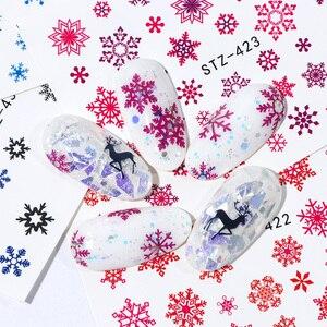 Image 3 - 30 個白雪ンネイルステッカーアートスライダークリスマス装飾爪デザイン箔水デカールマニキュア TR862