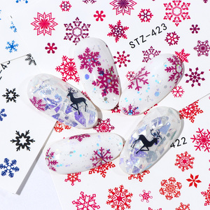Image 3 - 30pcs White Snowflakes Nail Stickers Art Sliders Set For Christmas Decorations Nails Designs Foils Water Decals Manicure TR862