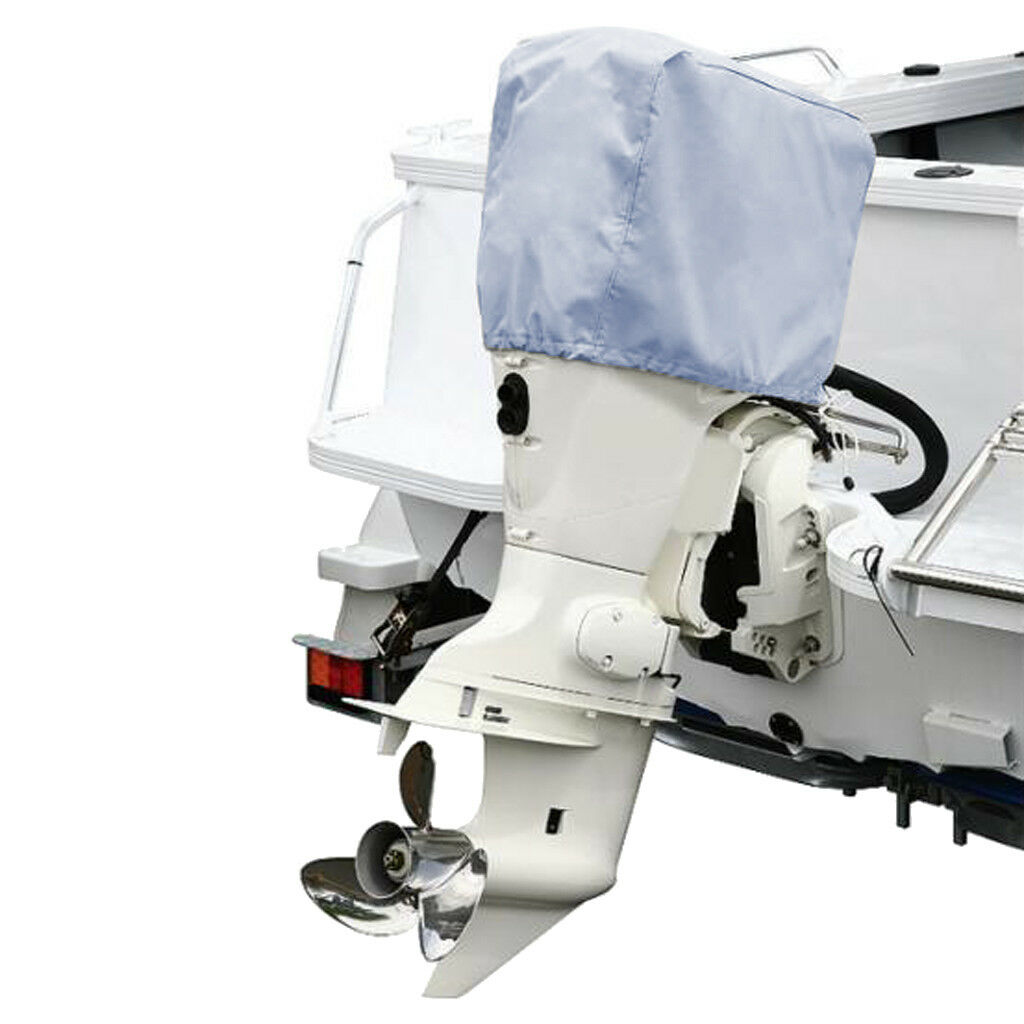 Waterproof 5 To 300 HP Gray 210D Outboard Motor Cover Boat Engine Cover Outboard Boat Motor Cover 1 Piece