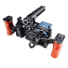 6K Mount-Clamp Magicrig Bmpcc 4k/bmpcc Camera Cage Wooden-Handle with Adjustable Adjustable