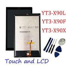 Için Lenovo Yoga Tab 3 Pro 10.1 YT3 X90L YT3 X90F YT3 X90X X90 LCD ekran paneli dokunmatik ekran Digitizer meclisi